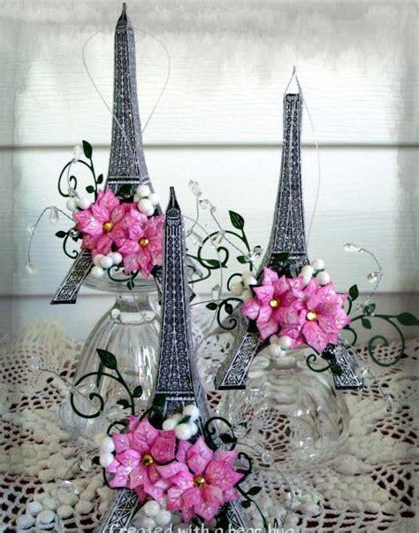 ideas de decoraciones para quinceaneras tema paris centros de mesa con torre eiffel fiestas ideas para