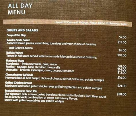 room menu room service menu page 1 picture of parsippany parsippany tripadvisor