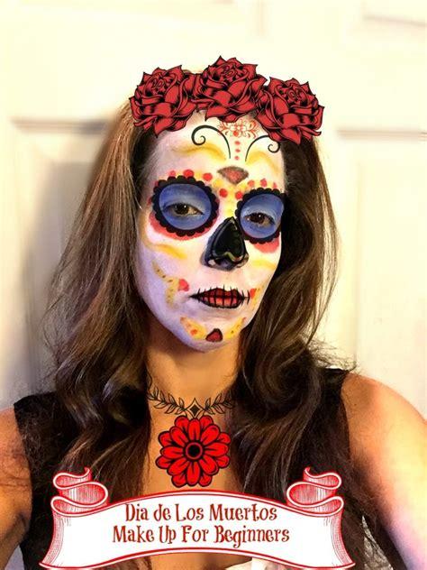 makeup dia dia de los muertos make up tutorial for beginners