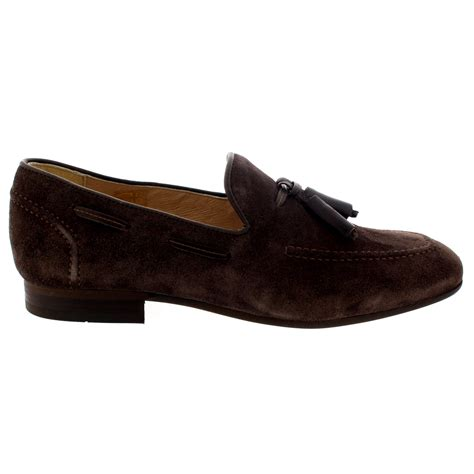 mens suede loafers with tassels mens h by hudson suede smart slip on work loafers