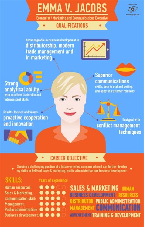 infographic cv by eyegager