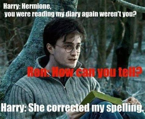 Hermione Meme - harry potter memes hermione reading his diary ron