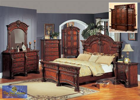 wood bed sets ornate king and panel bedroom