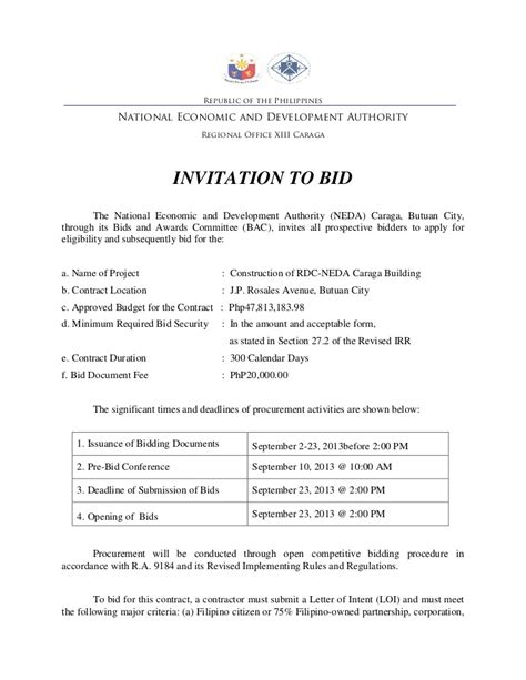 to bid invitation to bid