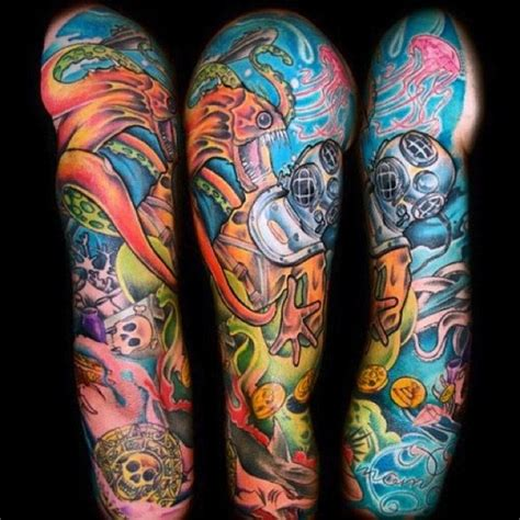 tattoo parlours london ontario this is sea monster 3 4 sleeve one sit away from being