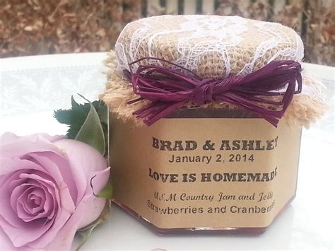 Jam Favors For Bridal Shower by Rustic Bridal Shower Favors Jam Country Bridal Shower Favors