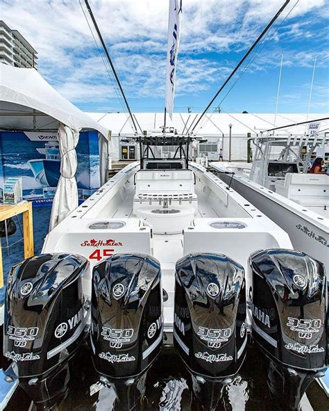 seahunter boats jobs 45 seahunter with quad black yamahas sick boats