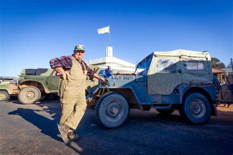 australian outback jeep the trackers wwii military vehicle enthusiasts go on