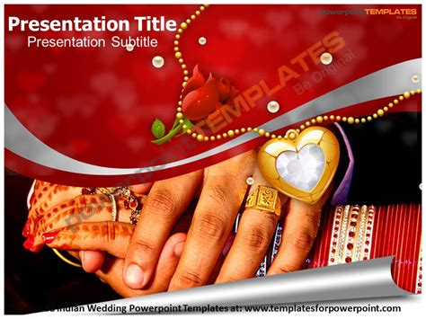 Wedding Announcement Powerpoint by Free Indian Wedding Ppt Templates Slide World