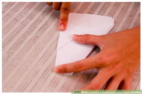 How To Make Paper Lock - how to make a nakamura lock paper airplane 7 steps
