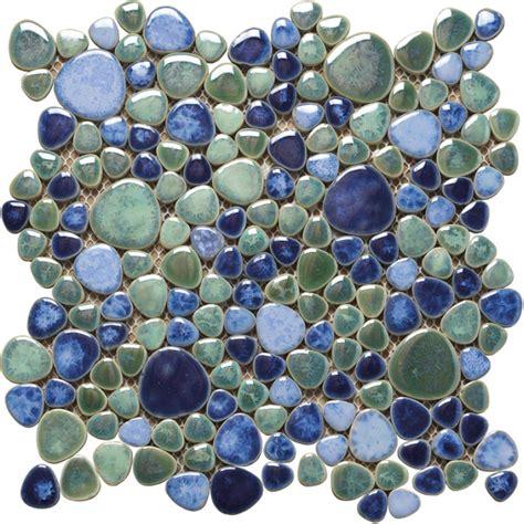 fliesen keramik keramik mosaik fliesen kiesel optik silex azzuro tg18409