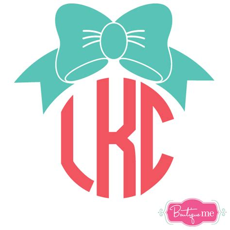 bow decal bow monogram vinyl sticker decal boutique me