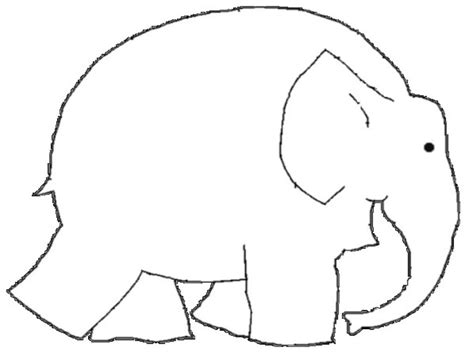 Elmer The Elephant Template by Elmer Elephant Coloring Page Read And Make