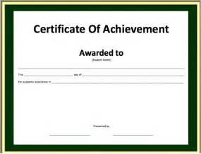 achievement certificate templates free achievement certificate template 6 free printable
