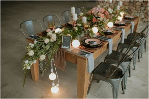 industrial wedding table decorations wedding decoration ideas industrial theme metalic