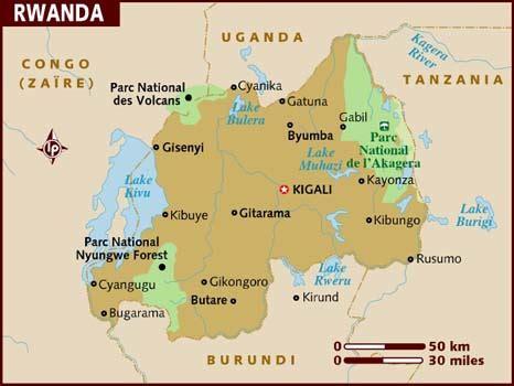 rwanda map map of rwanda