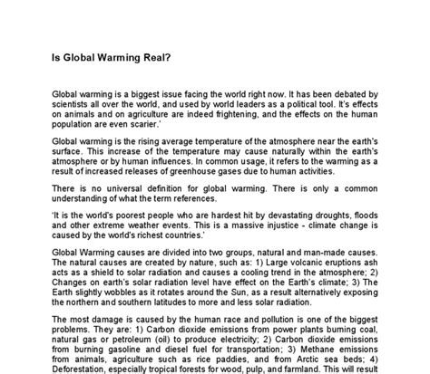 Global Warming Essay by Accueil