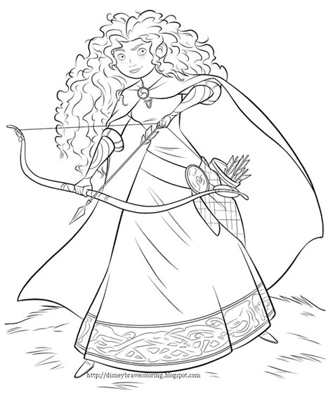 coloringpages disney brave movie coloring pages