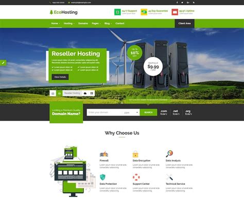 19 Best Html Web Hosting Website Templates 2018 Colorlib 2 Page Website Template
