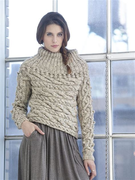 free cable knit sweater sideways cable pullover by vladimir teriokhin free
