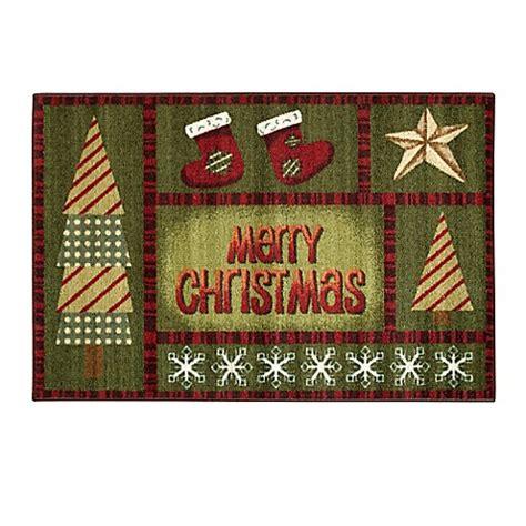 brumlow mills brumlow mills 174 quot merry christmas quot accent rug in green bed