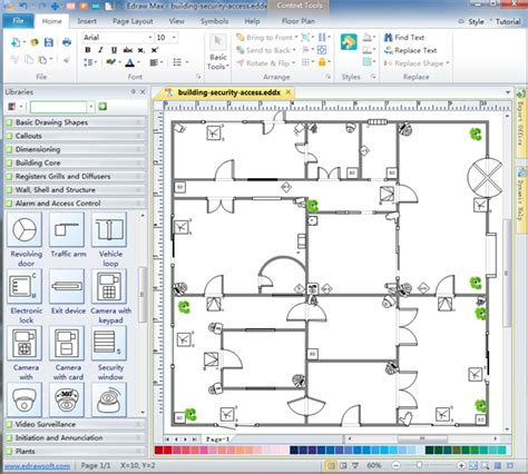 cctv layout design software free security and access plan software