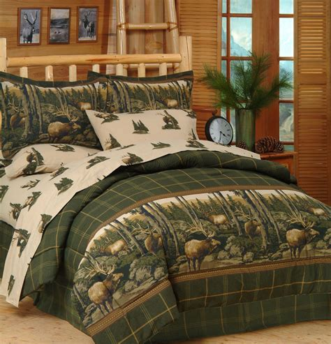 wildlife bedding sets rocky mountain elk wildlife comforter set sheets bed in