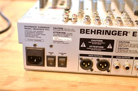 Mixer Behringer Ub2222fx behringer eurorack ub2222fx pro 22 input 2 2 mic line