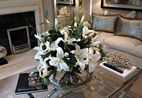 coffee table flower arrangements flower arrangement for living room table amazing living room