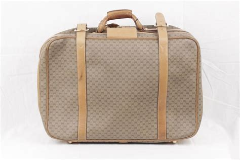 Gucci Cabin Luggage by Gucci Vintage Gg Monogram Canvas Cabin Size Suitcase