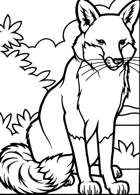 dibujos para colorear zorro dibujos de zorros para colorear
