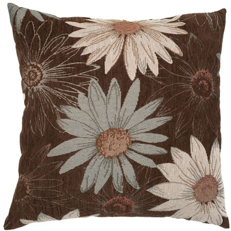 brown patterned pillows essential home jensen pillow brown floral shop your