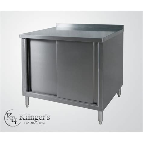 enclosed stainless steel work table all stainless steel premium enclosed work table cabinet