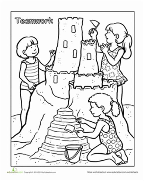 words to live by teamwork coloring page education com