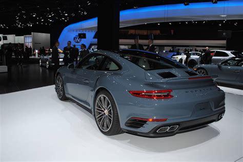 porsche graphite blue detroit 2016 porsche 911 turbo and turbo s gtspirit