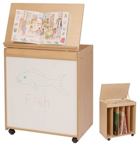 big book of contemporary 1906388318 steffywood kids home learning mobile big book holder display storage art easel contemporary