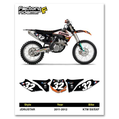 motocross bike numbers 2011 2012 ktm sx sxf dirt bike graphics motocross custom