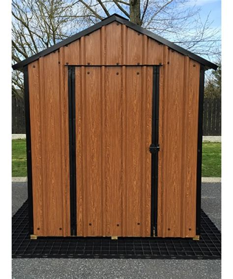 6 Foot Shed 6ft X 6ft Wood Grain Steel Shed Garden Sheds For Sale