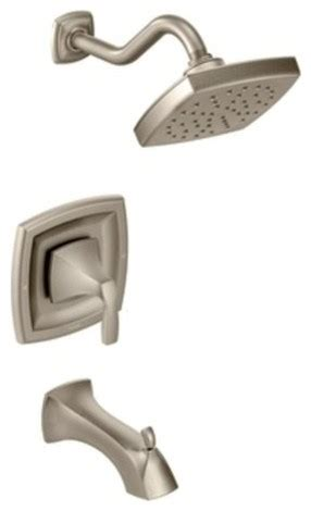 Brushed Nickel Tub And Shower Faucet Set by Moen T3693bn Brushed Nickel Voss Tub And Shower Valve Trim