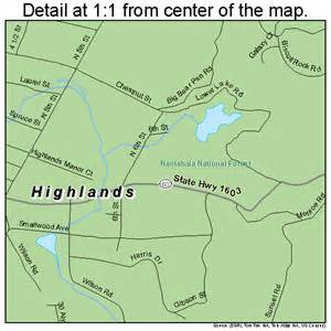 highlands carolina map 3731360