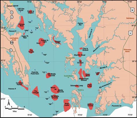 maryland dnr map fisheries maps data