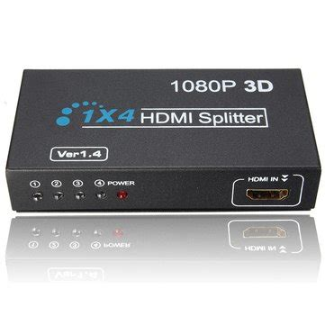 4 In 1 Out 1 in 4 out hd 1080p 3d 1 4 hdmi splitter duplicator