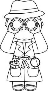 Detective Clipart Black And White kid detectives clipart 27