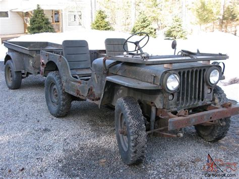 military jeep 1952 willys m38 military jeep with m100 trailer rare