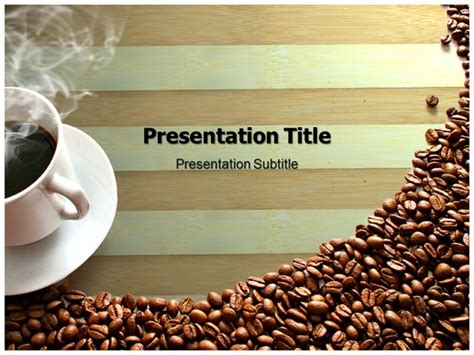 Coffee Powerpoint Templates Backgrounds Of Brown Coffee Themes Coffee Powerpoint Template Free
