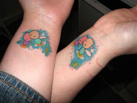 coloured wrist tattoos 41 awesome matching wrist tattoos designs