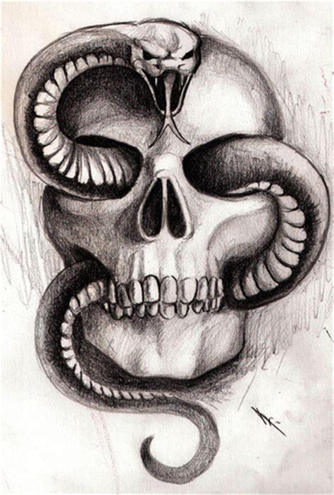 imagenes de calaveras y serpientes regyjhon bocetos tattoos variados