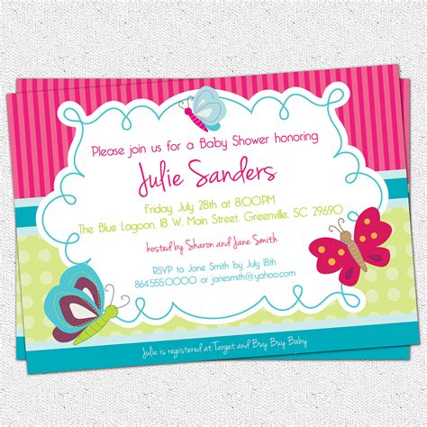 Butterfly Baby Shower Invitation by How To Create Butterfly Baby Shower Invitations Templates