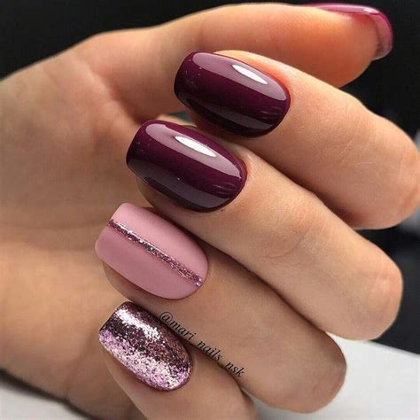 Nail Style Ideas by Gel Nail Design Ideas Awesome Burgundy Nails Nail Designs
