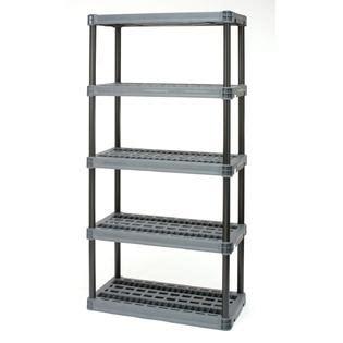 Plano 5 Shelf Storage Unit plano 5 shelf heavy duty resin interlocking shelving unit